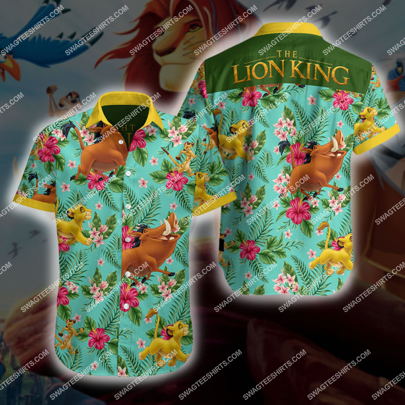 the lion king all over print hawaiian shirt 2