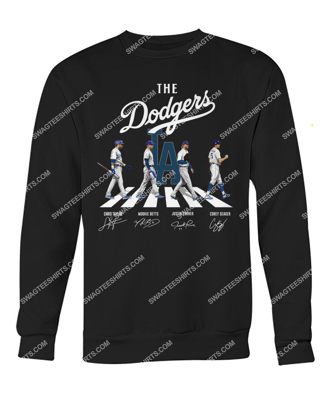 the los angeles dodgers walking abbey road signatures sweatshirt 1