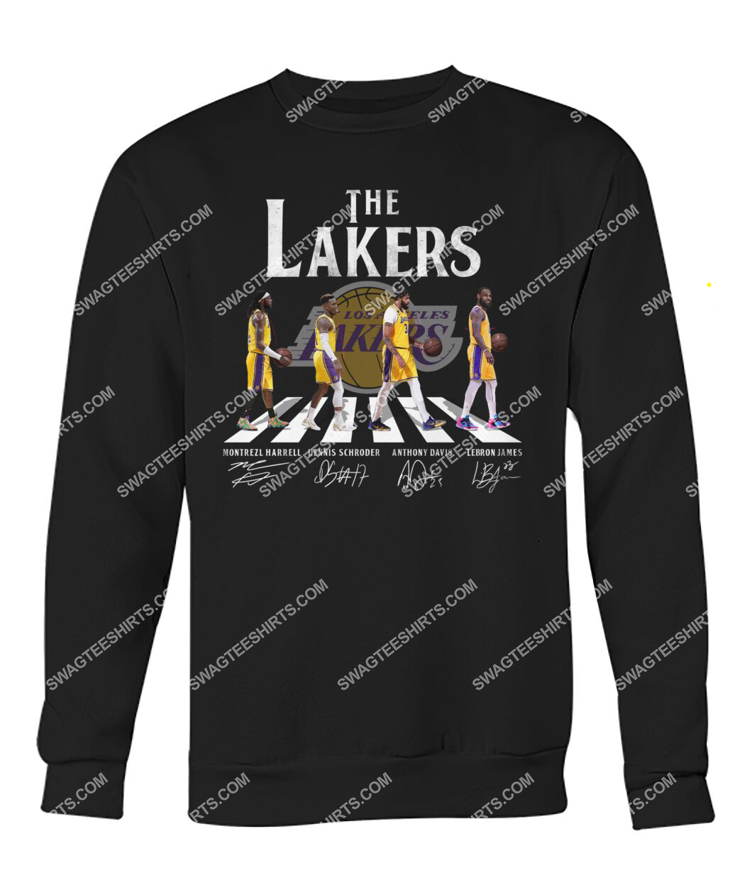the los angeles lakers walking abbey road sweatshirt 1