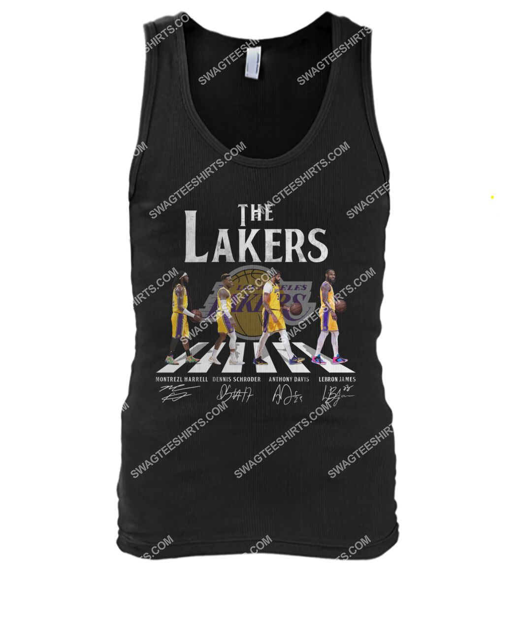 the los angeles lakers walking abbey road tank top 1