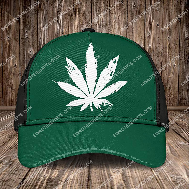 the marijuana leaf all over printed classic cap 3 - Copy (2)