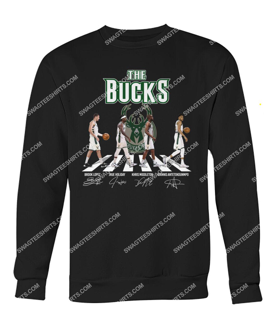 the milwaukee bucks walking abbey road sweatshirt 1