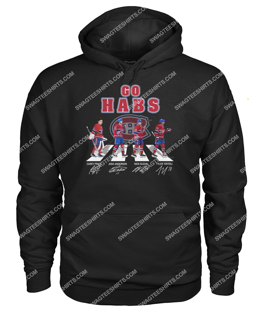the montreal canadiens walking abbey road hoodie 1