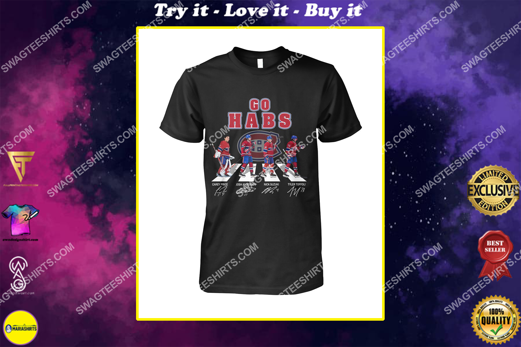 the montreal canadiens walking abbey road shirt