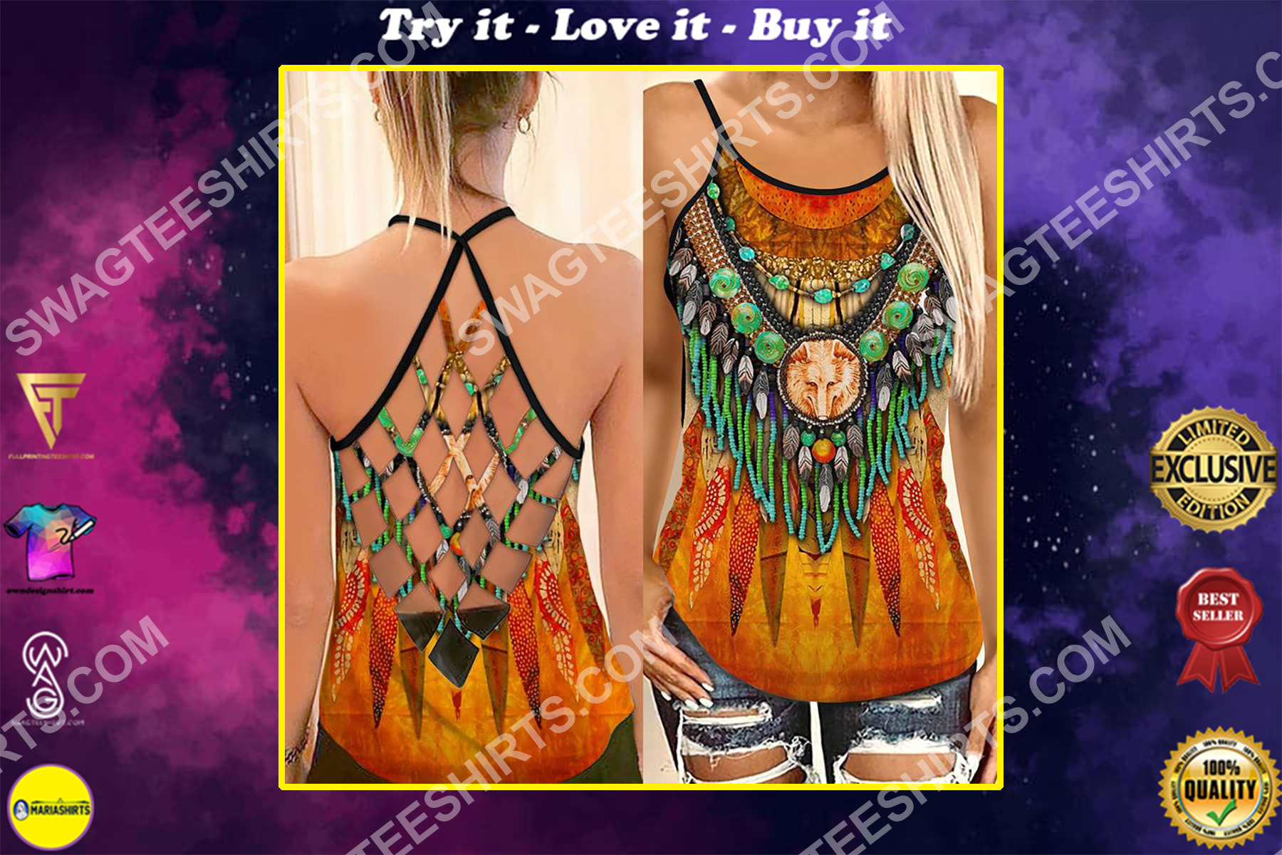 the native americans culture strappy back tank top