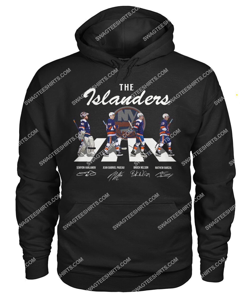the new york islanders walking abbey road hoodie 1