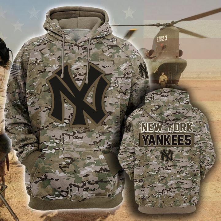 the new york yankees camouflage veteran full over printed hoodie 1