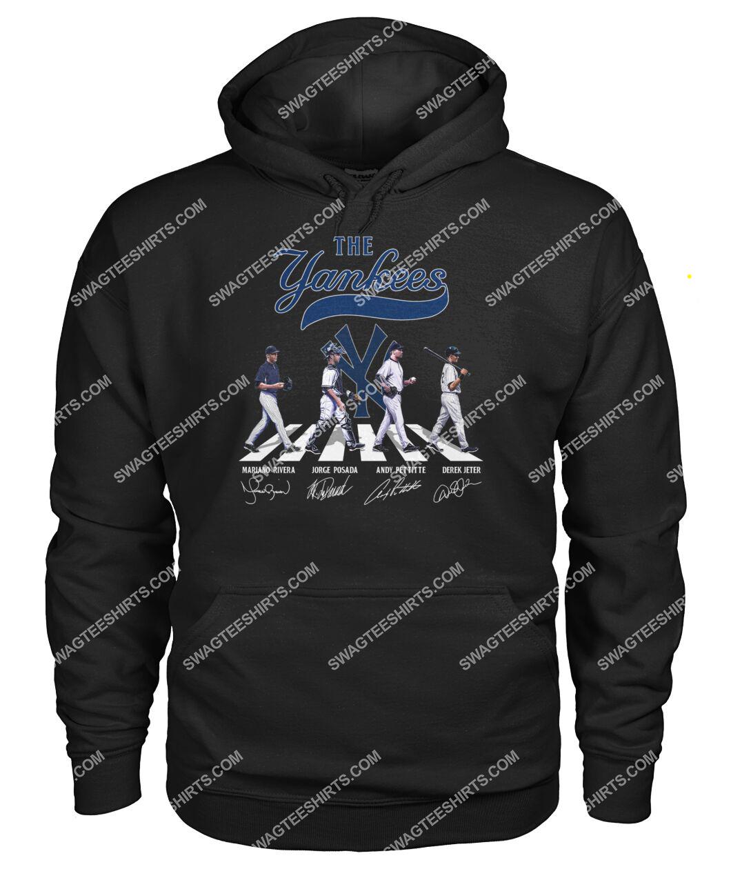the new york yankees walking abbey road hoodie 1