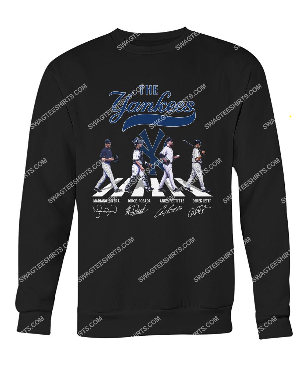 the new york yankees walking abbey road sweatshirt 1