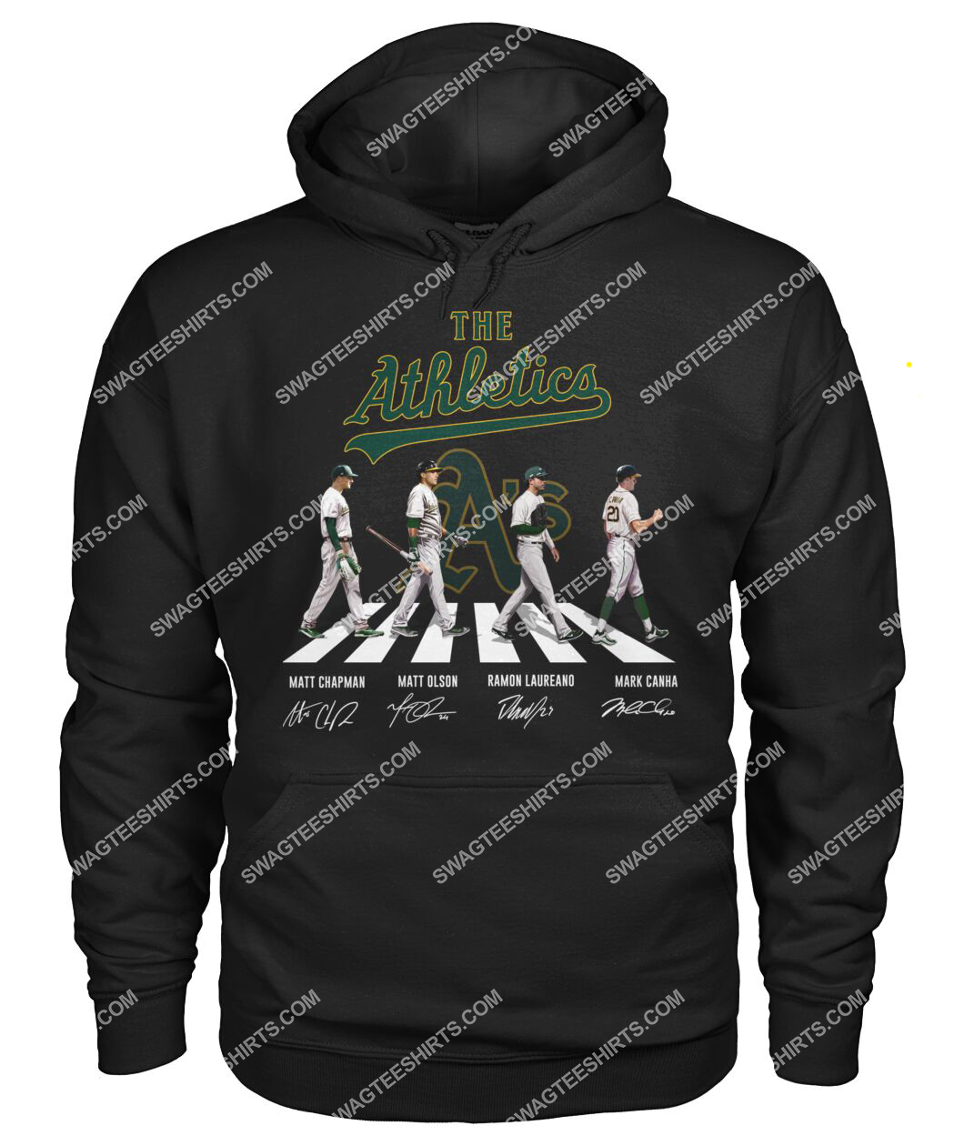 the oakland athletics signatures abbey road hoodie 1