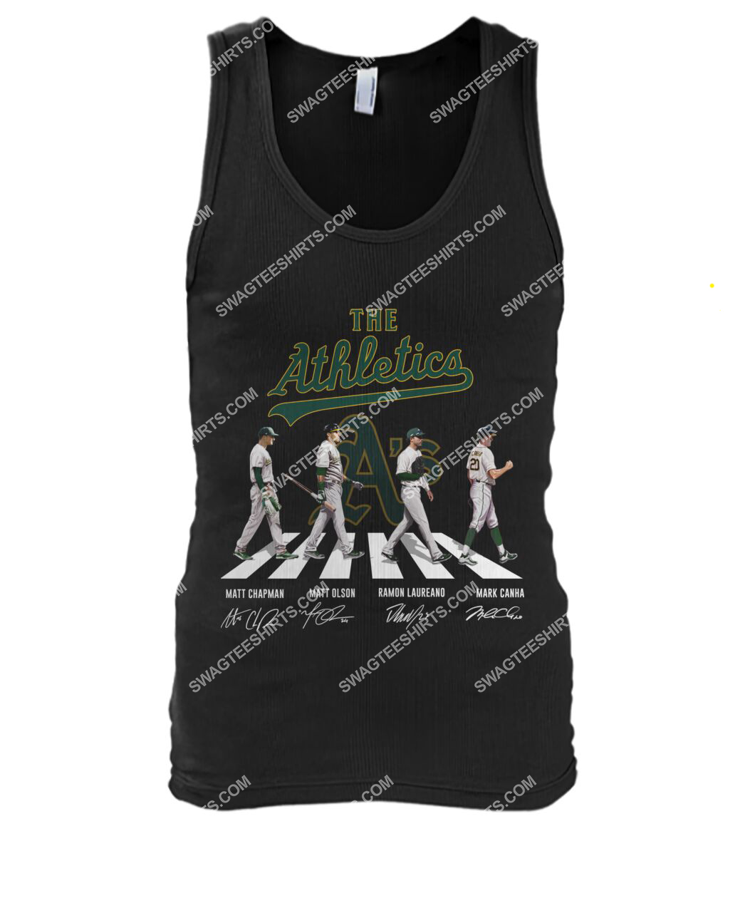 the oakland athletics signatures abbey road tank top 1