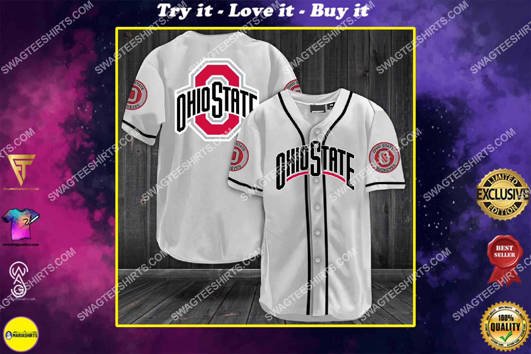 the ohio state buckeyes football full printing baseball jersey