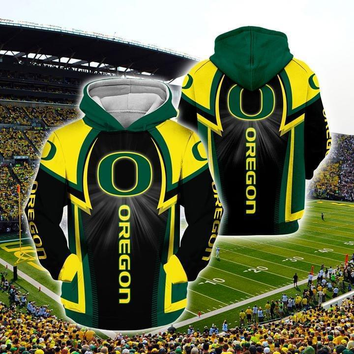 the oregon ducks football full over printed hoodie 1