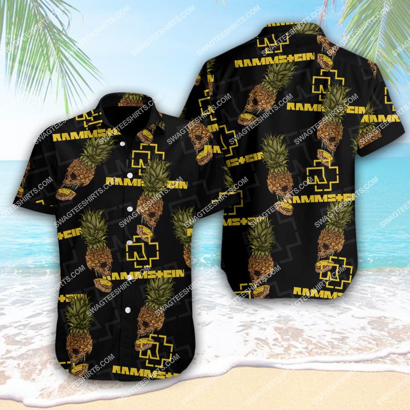 the rammstein band full printing hawaiian shirt 1 - Copy(1)