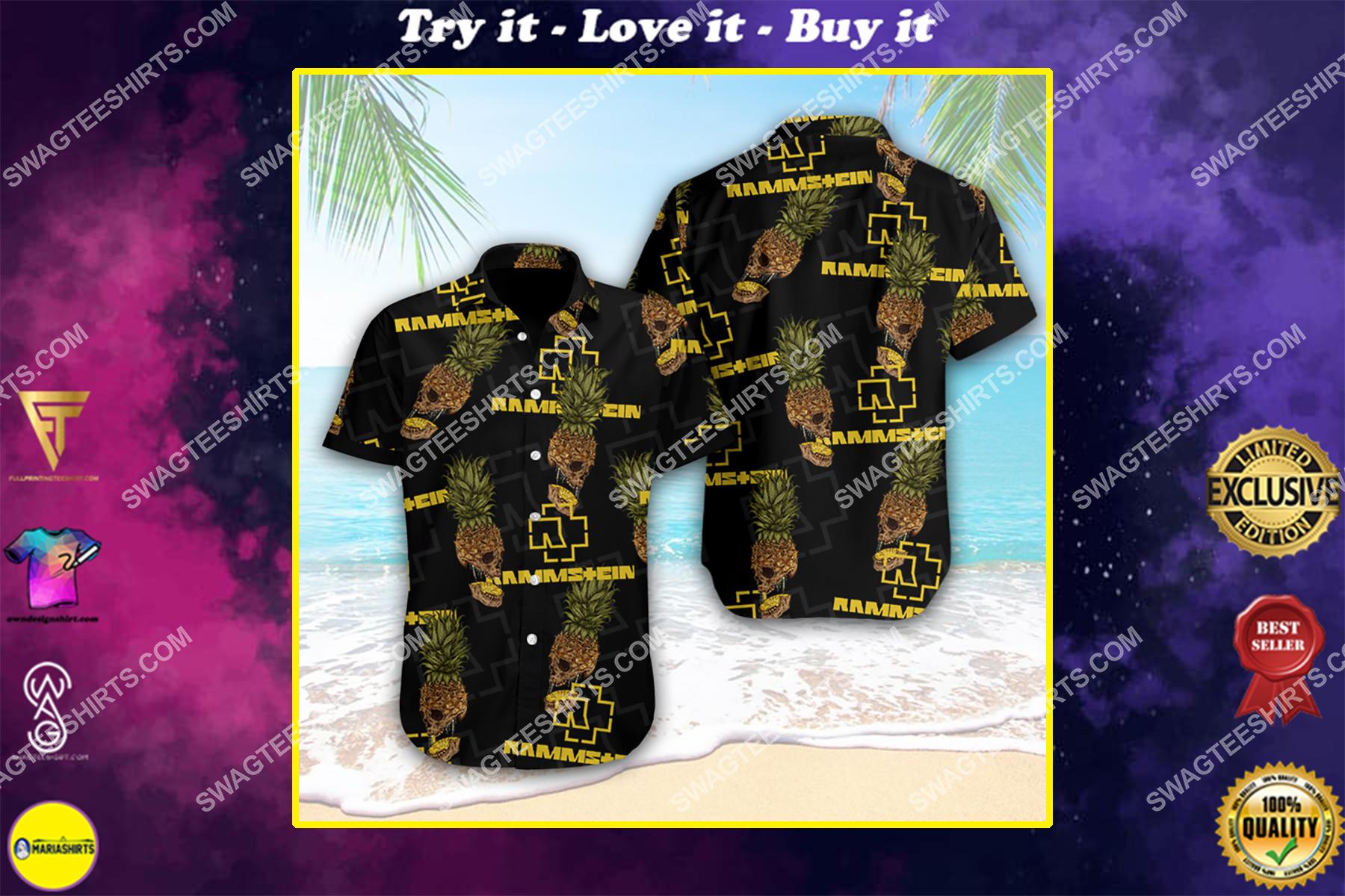 the rammstein band full printing hawaiian shirt