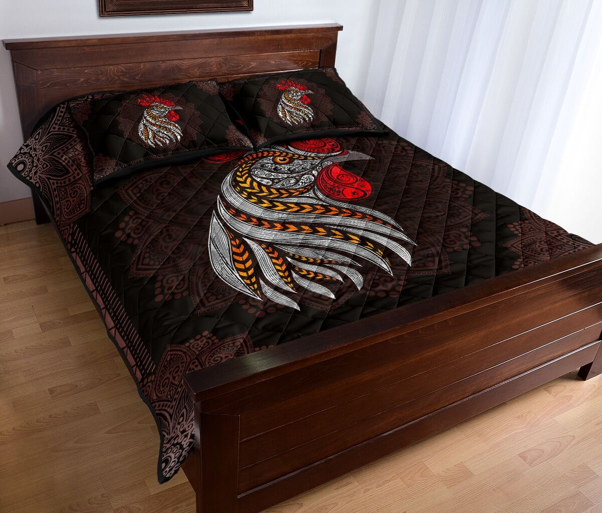 the rooster vintage full over quilt 4