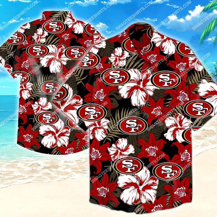 the san francisco 49ers football hawaiian shirt 2
