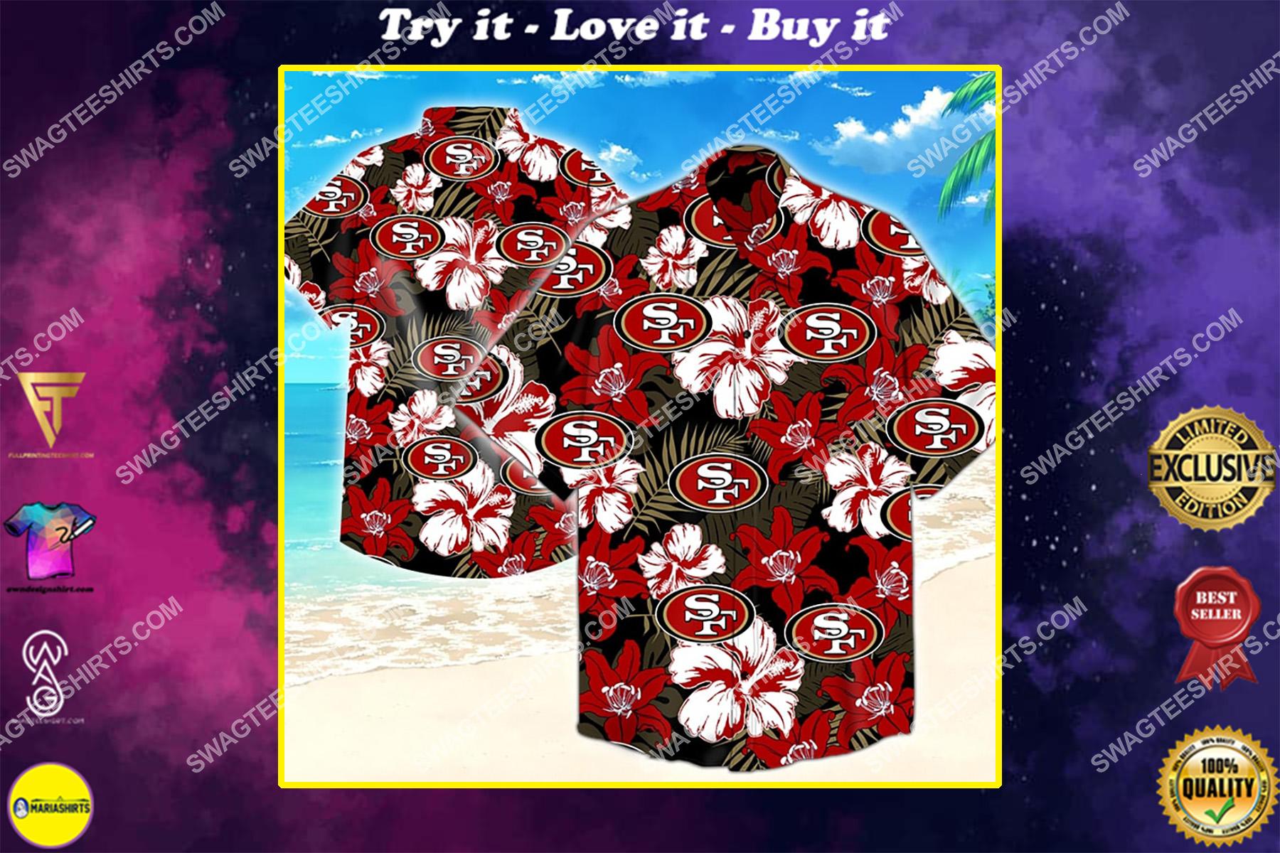the san francisco 49ers football hawaiian shirt