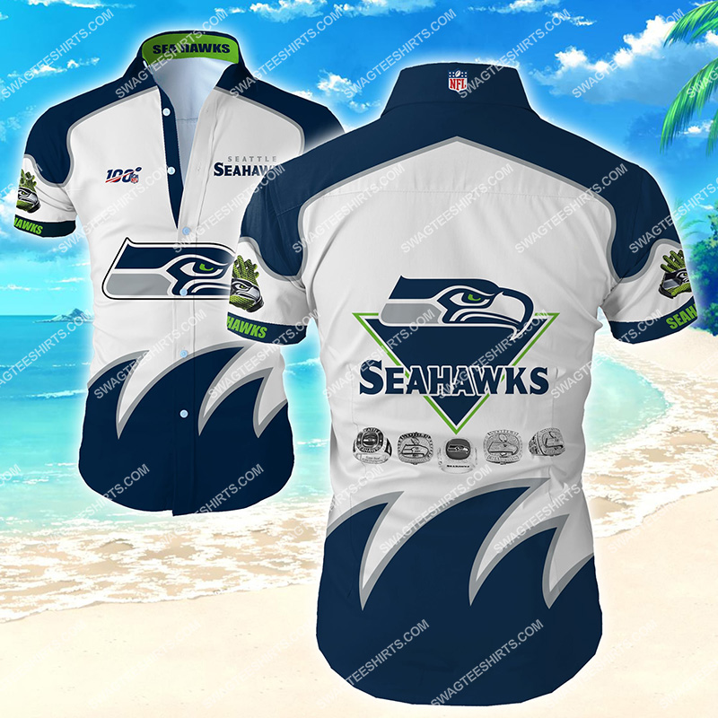 the seattle seahawks football team hawaiian shirt 2