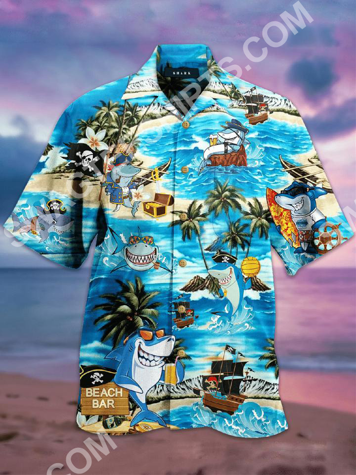 the shark and pirates all over printed hawaiian shirt 2(1) - Copy