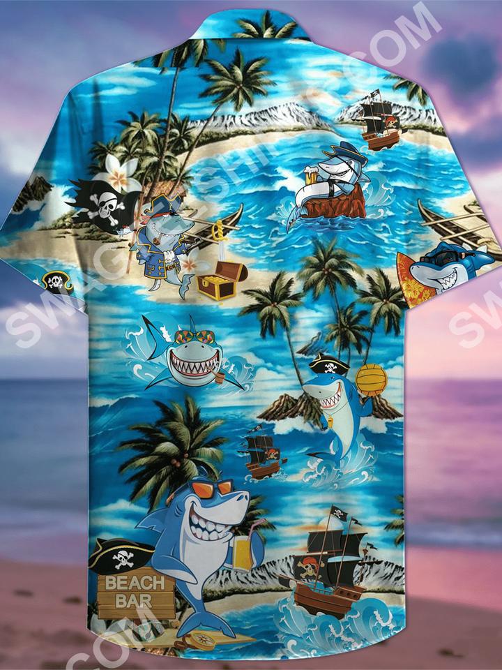 the shark and pirates all over printed hawaiian shirt 3(1)