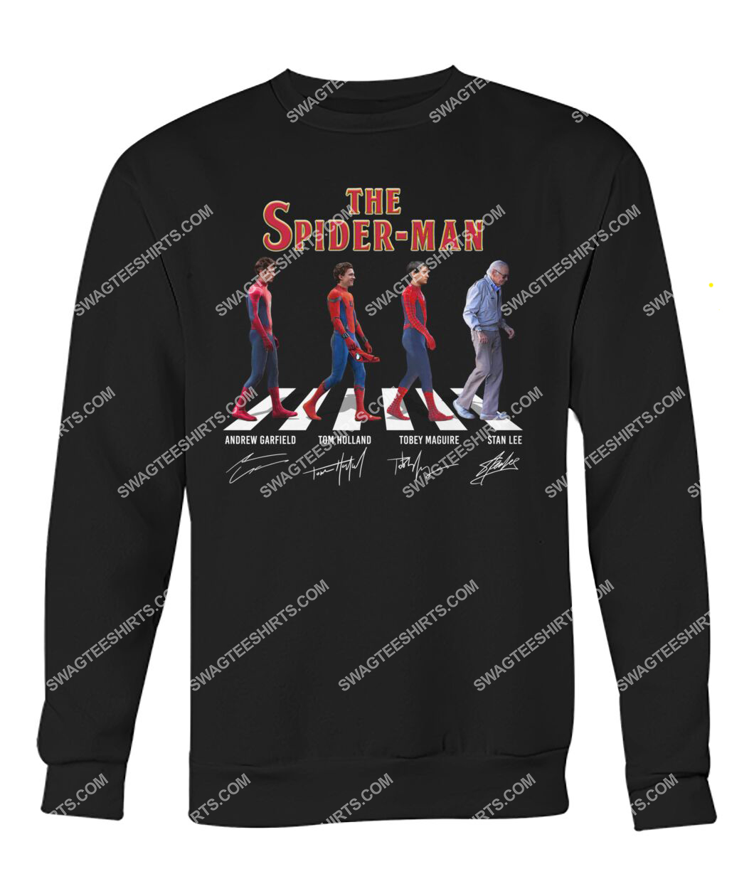 the spider man walking abbey road sweatshirt 1