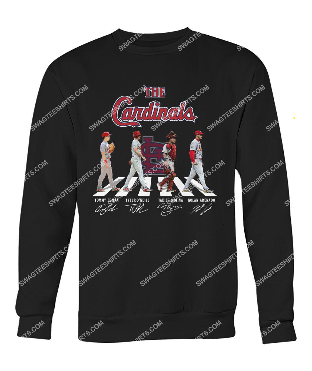 the st louis cardinals walking abbey road sweatshirt 1
