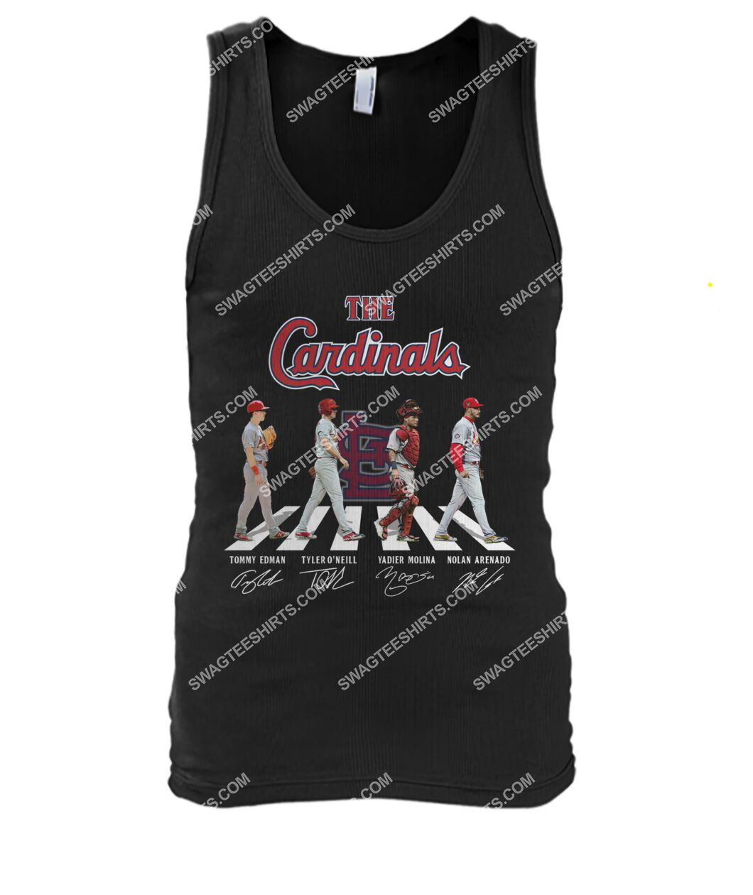 the st louis cardinals walking abbey road tank top 1