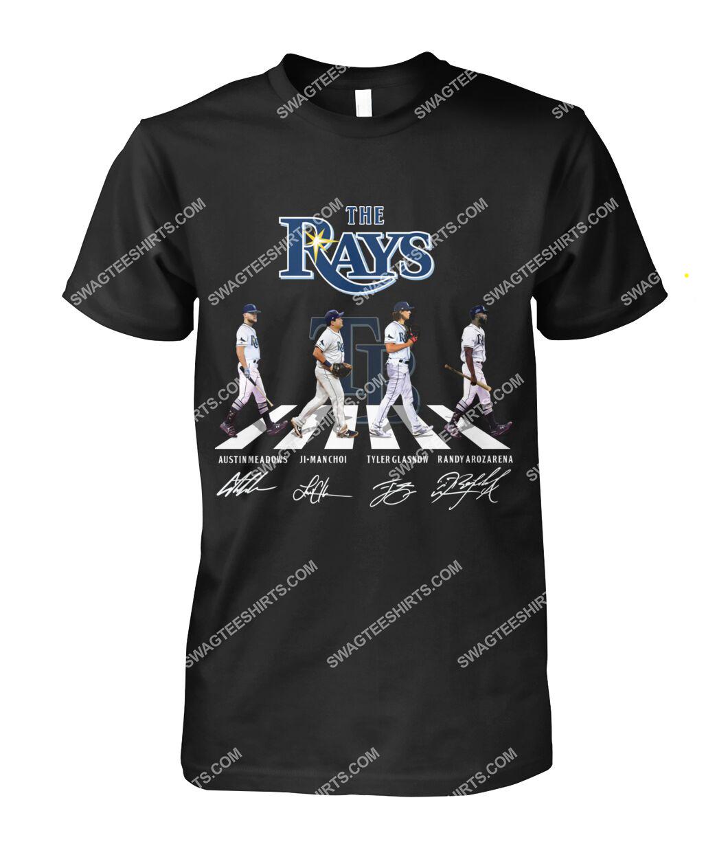 the tampa bay rays walking abbey road tshirt 1