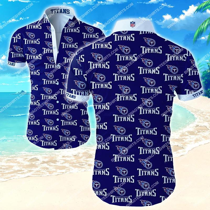 the tennessee titans football team hawaiian shirt 2