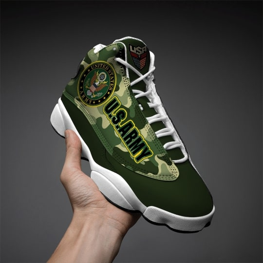 the united states army camo all over printed air jordan 13 sneakers 2