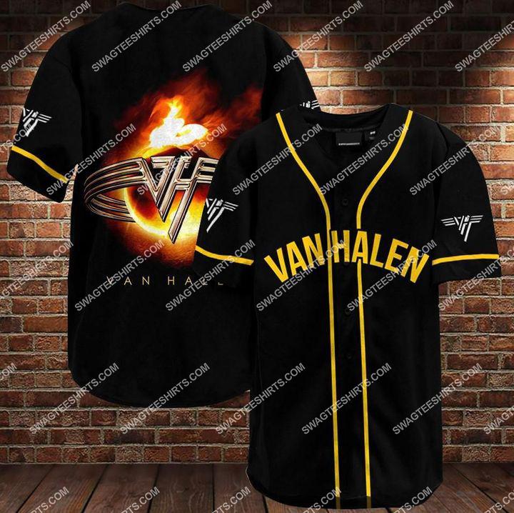 the van halen band all over printed baseball shirt 1