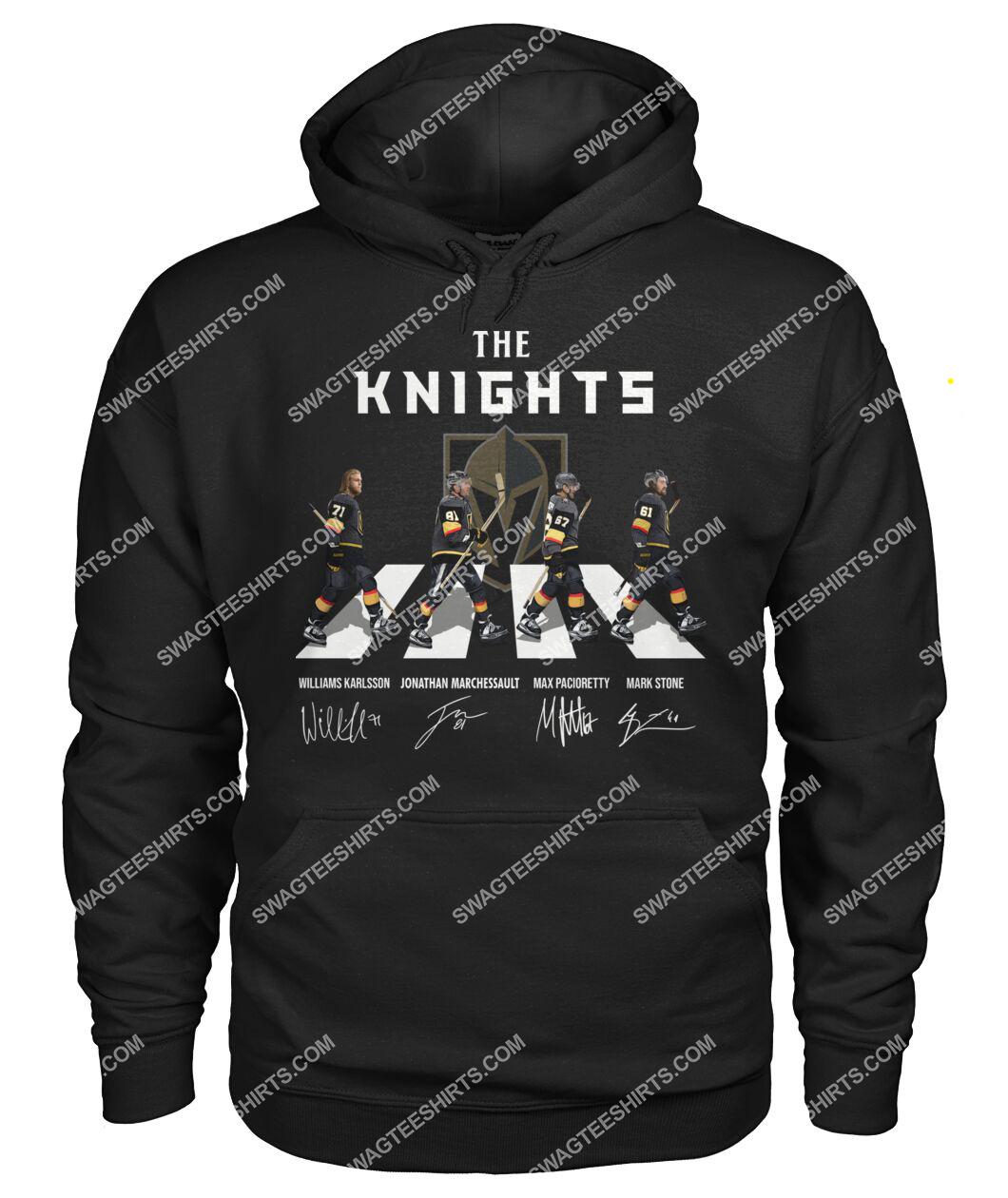 the vegas golden knights walking abbey road hoodie 1