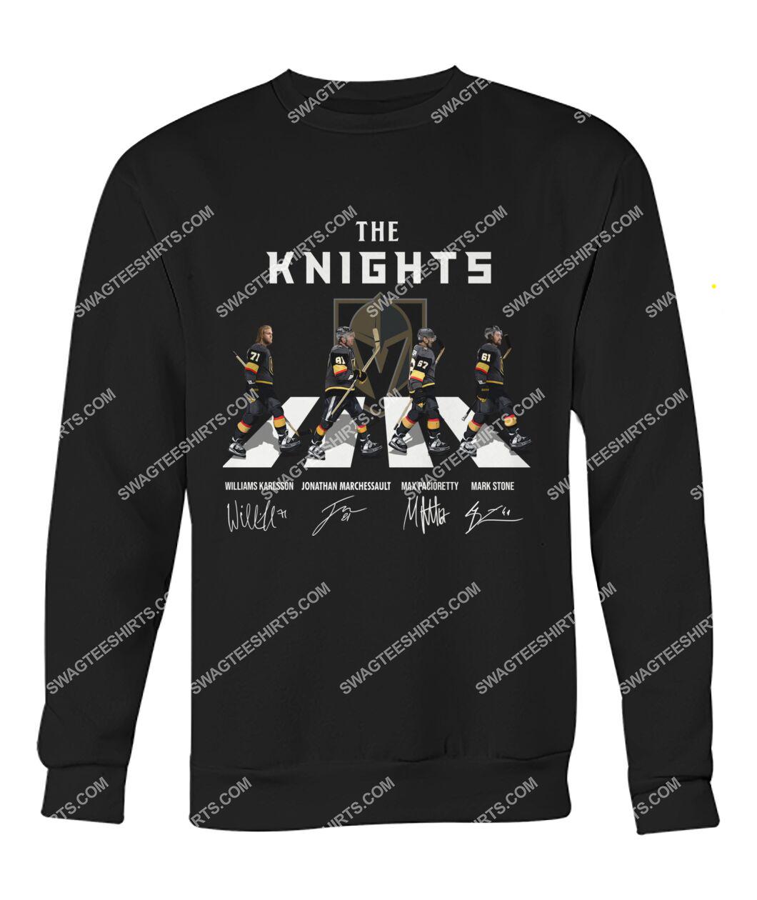 the vegas golden knights walking abbey road sweatshirt 1