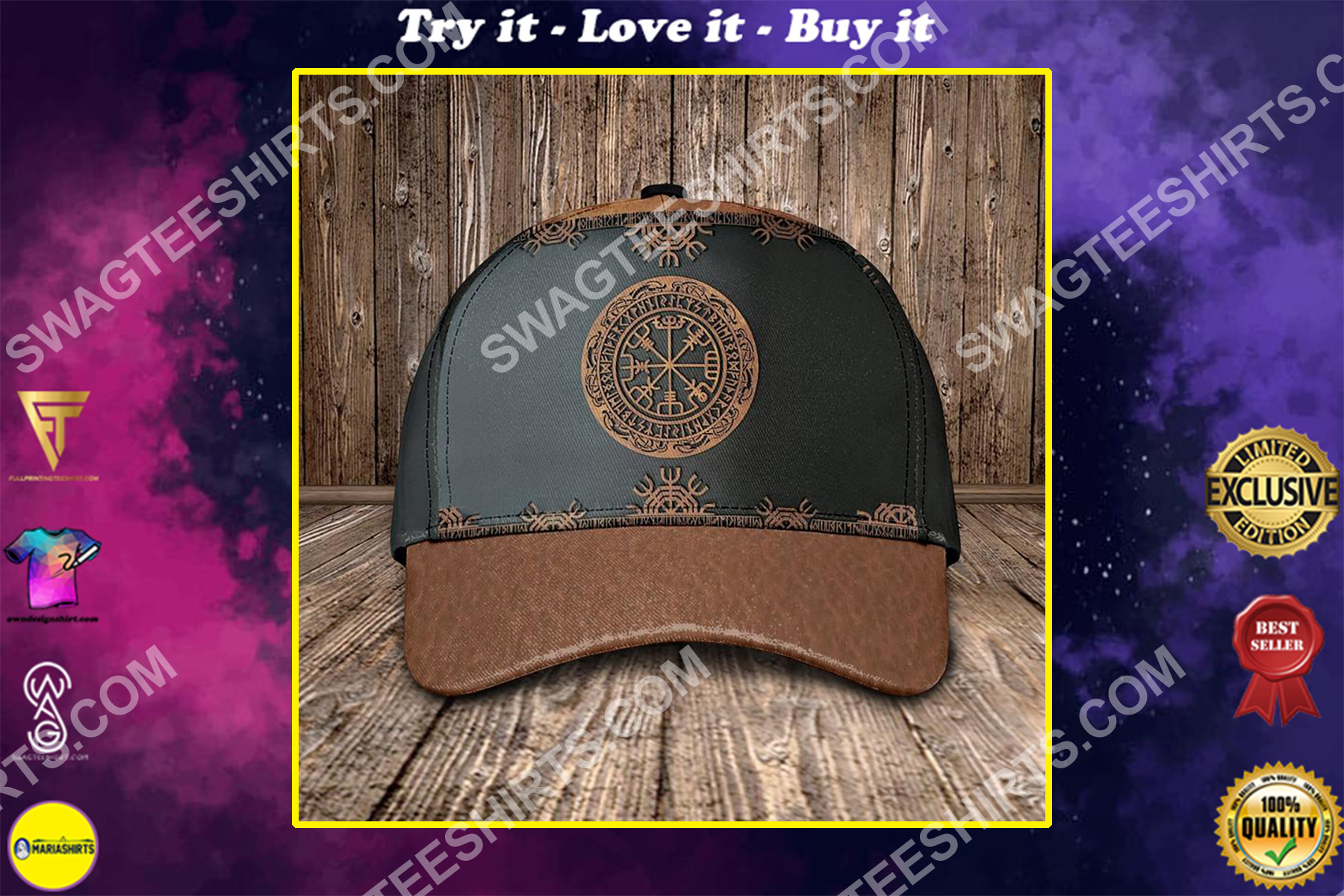 the viking culture all over printed classic cap