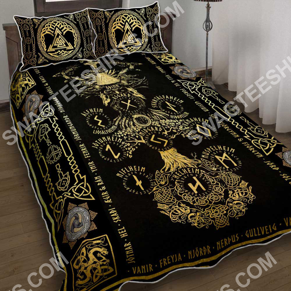 the viking sign all over printed bedding set 2(1)