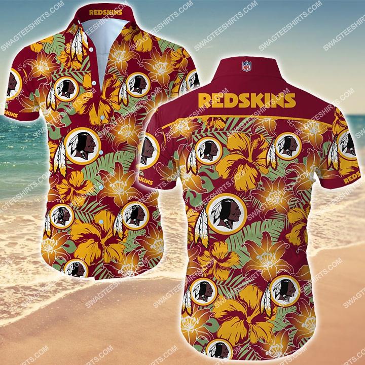 the washington redskins football team hawaiian shirt 2
