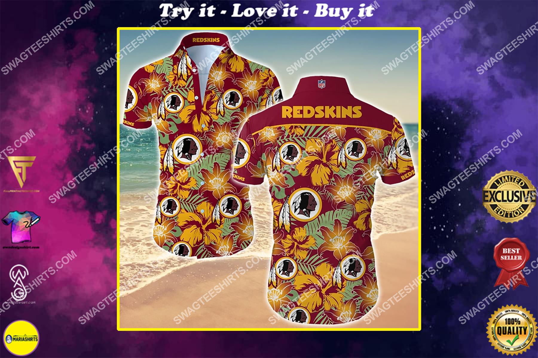 the washington redskins football team hawaiian shirt