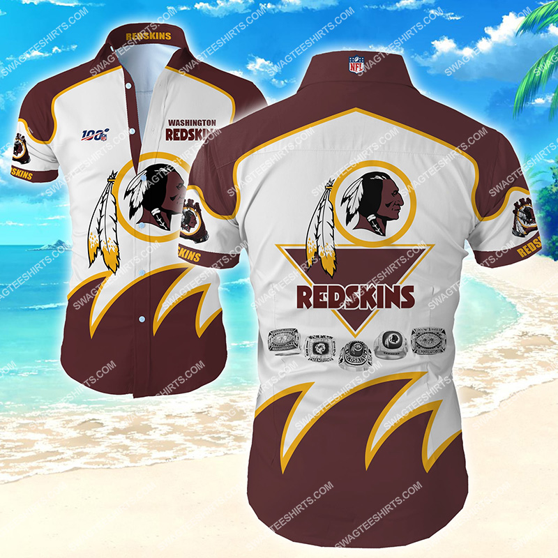 the washington redskins team full printing hawaiian shirt 2