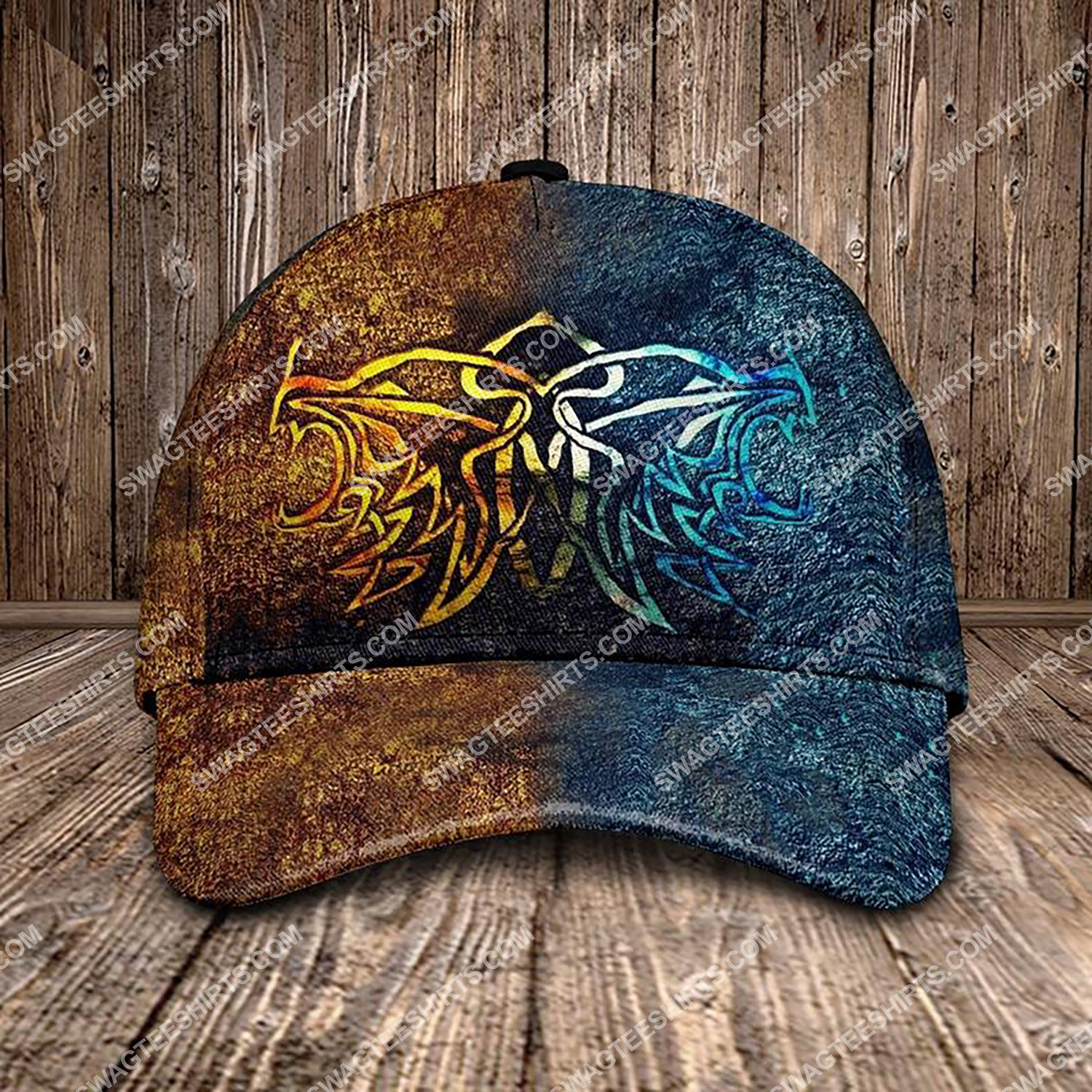 the wolf viking all over printed classic cap 3 - Copy (2)