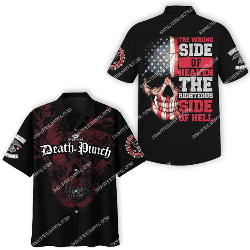 the wrong side of heaven and the righteous side of hell five finger death punch hawaiian shirt 2(1)