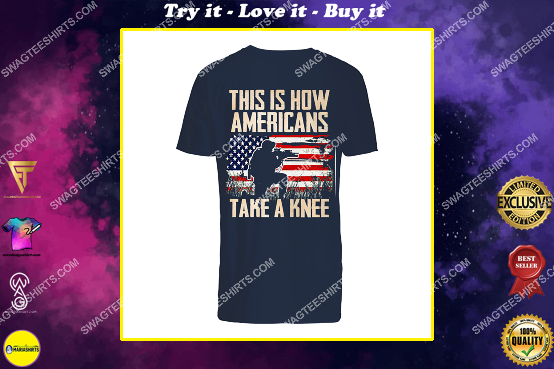 this is how americans take a knee veterans day shirt