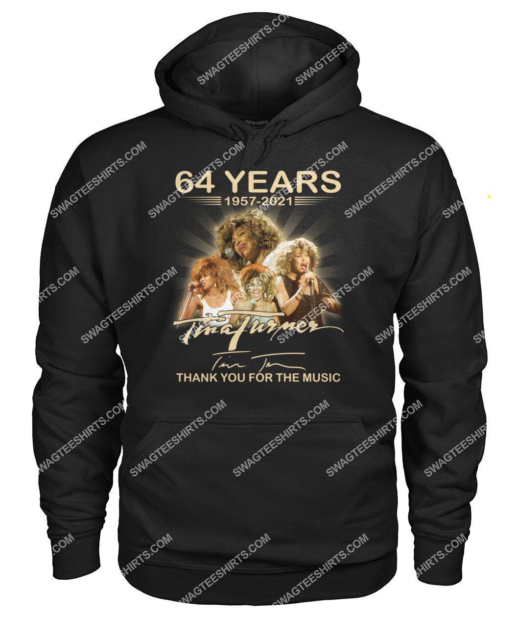tina turner 64 years thank you for the music signature hoodie 1