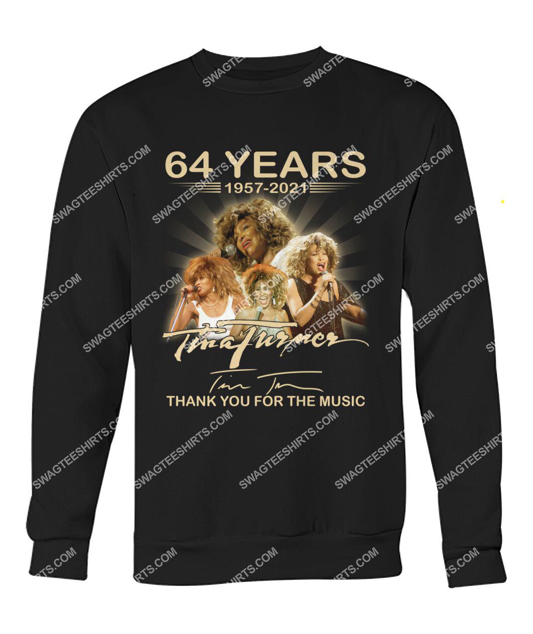 tina turner 64 years thank you for the music signature sweatshirt 1