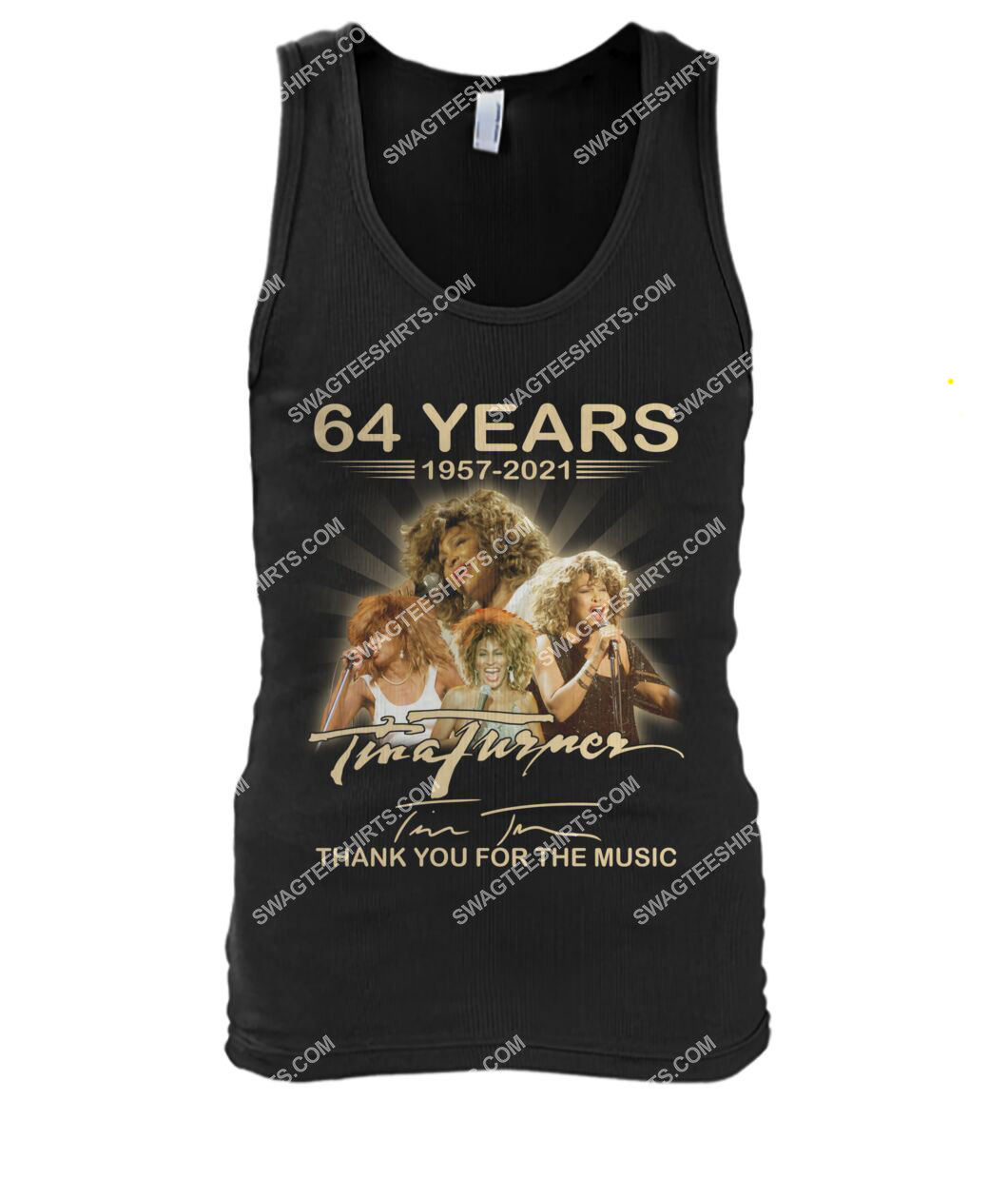 tina turner 64 years thank you for the music signature tank top 1