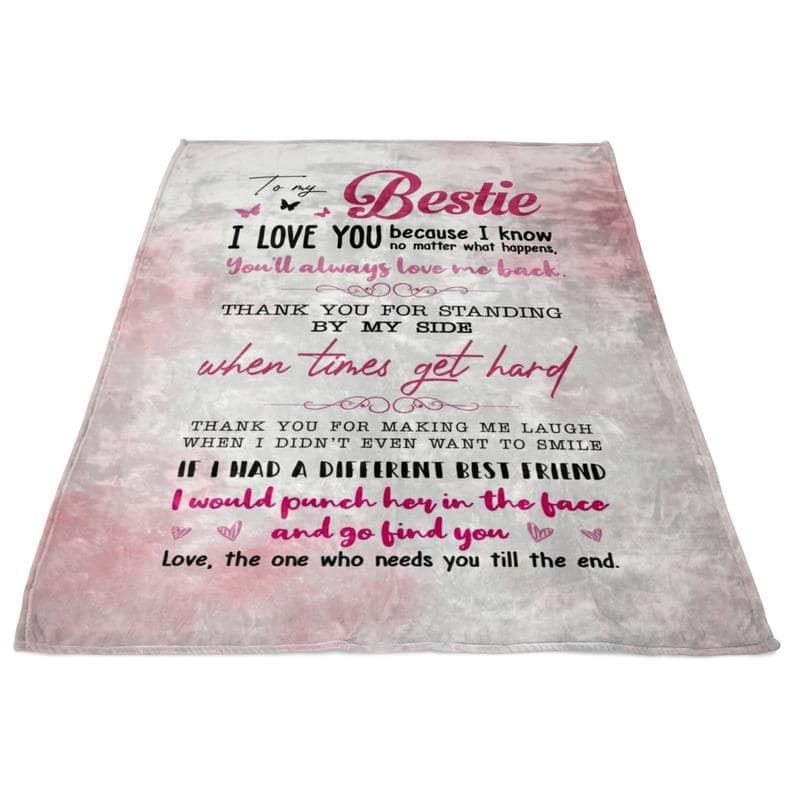 to my bestie thank you for standing by my side blanket 4