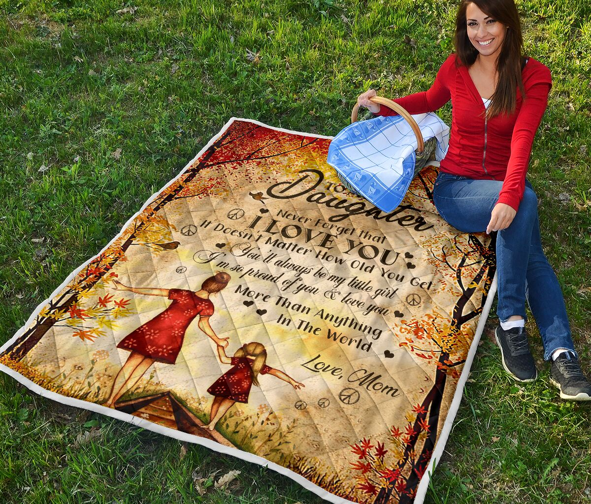 to my daughter never forget i love you love mom full printing quilt 2
