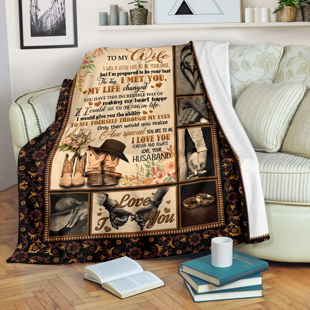 to my wife the day i met you my life changed full printing blanket 2