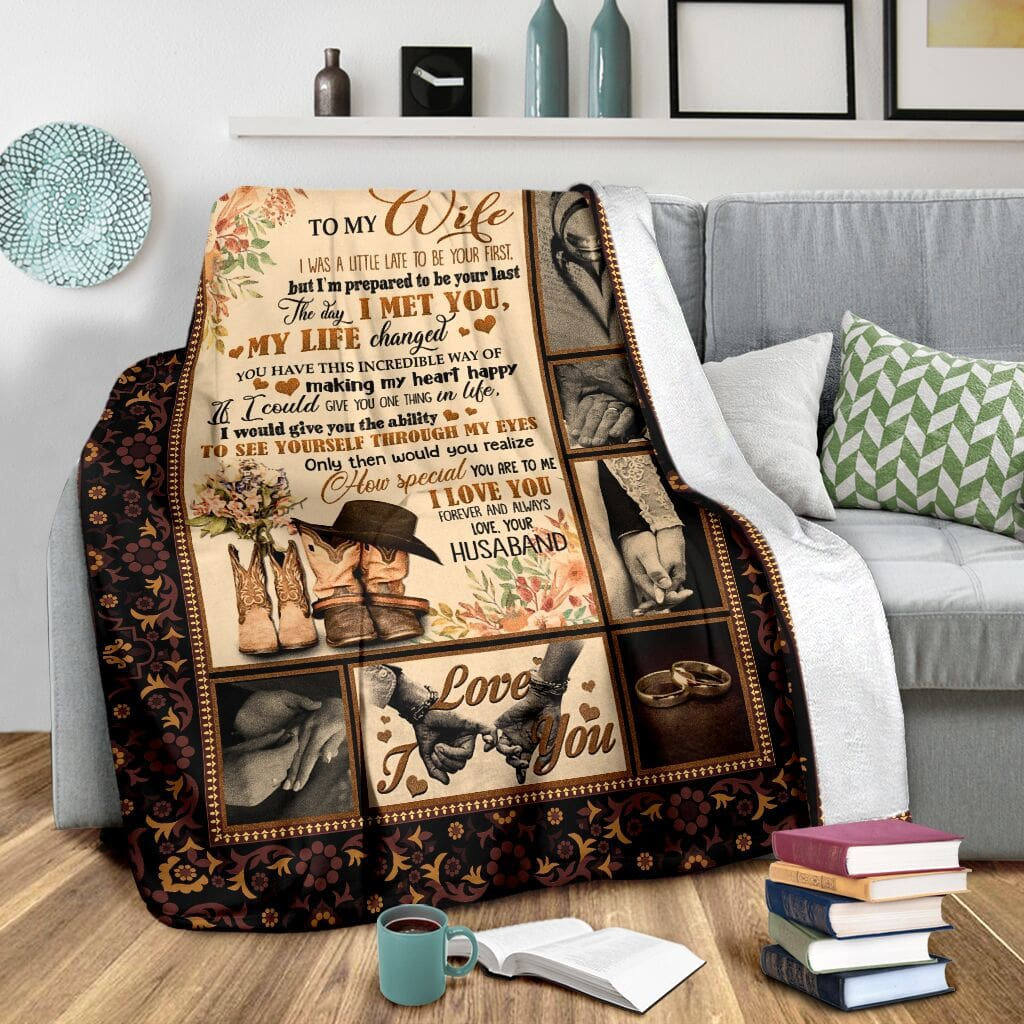 to my wife the day i met you my life changed full printing blanket 3