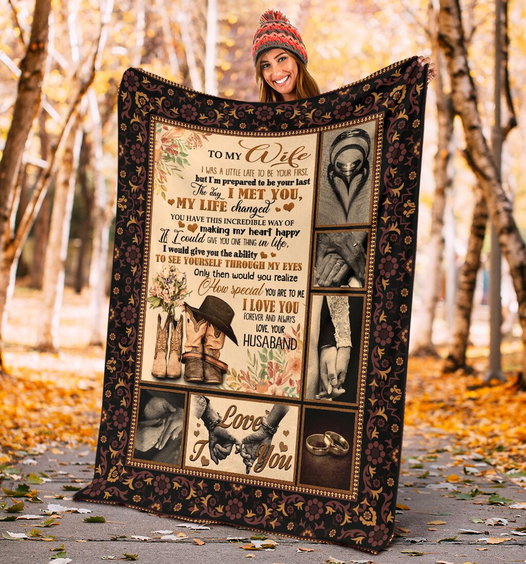 to my wife the day i met you my life changed full printing blanket 4